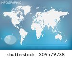 infographic elements set.world... | Shutterstock .eps vector #309579788