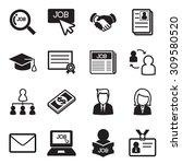 job icon set   Shutterstock .eps vector #309580520