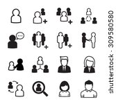 people icon set | Shutterstock .eps vector #309580580