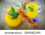 Juice From Ripe Sea Buckthorn...