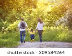 happy young family spending... | Shutterstock . vector #309584264