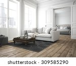 sofa of tissue in a modern... | Shutterstock . vector #309585290
