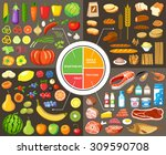 set of products for healthy... | Shutterstock .eps vector #309590708