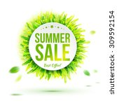 summer best  sale circle label... | Shutterstock .eps vector #309592154