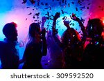 Dancing People At Nightclub On...