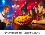 jack o     lantern as... | Shutterstock . vector #309592643