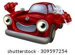 cartoon car character holding a ... | Shutterstock . vector #309597254