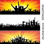 advertising banners for sports... | Shutterstock .eps vector #309610940