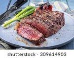 Sirlon Steak On Plate