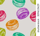colored donuts | Shutterstock .eps vector #309615629