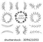 hand drawn vector set of... | Shutterstock .eps vector #309621053