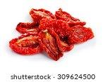 sun dried tomatoes isolated on... | Shutterstock . vector #309624500