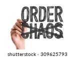hand with marker writing the... | Shutterstock . vector #309625793
