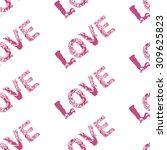 love pattern | Shutterstock .eps vector #309625823