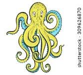 vector hand drawing cartoony... | Shutterstock .eps vector #309626870