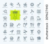 outline icon collection  ... | Shutterstock .eps vector #309627440