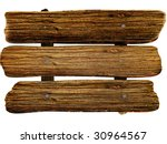 wooden board isolated white... | Shutterstock . vector #30964567
