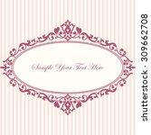 decorative vintage frame.... | Shutterstock .eps vector #309662708