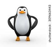 3d illustration of cute... | Shutterstock . vector #309663443