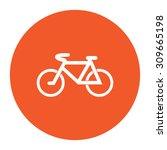 mountain bike. flat white... | Shutterstock .eps vector #309665198