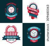 vector set badges logos... | Shutterstock .eps vector #309680363