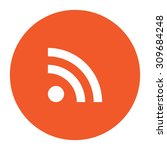 rss. flat white symbol in the... | Shutterstock .eps vector #309684248