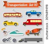 set of all types of transport... | Shutterstock .eps vector #309689498