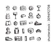 basketball icons  sketch for... | Shutterstock .eps vector #309692708