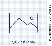 vector sketch icon of image...