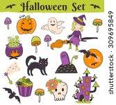 trick or treat halloween... | Shutterstock .eps vector #309695849