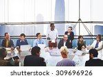 business people corporate... | Shutterstock . vector #309696926