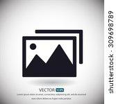 photograph vector icon | Shutterstock .eps vector #309698789
