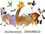 cartoon wild animals   Shutterstock . vector #309698810