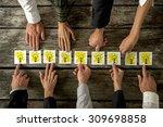 brainstorming and teamwork... | Shutterstock . vector #309698858