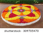 flower rangoli decoration for... | Shutterstock . vector #309705470