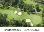 Aerial View Of A Golf Course...