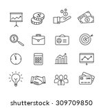 business icons  productivity ... | Shutterstock .eps vector #309709850