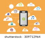 smart phone apps and system...   Shutterstock .eps vector #309712964