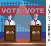 elections campaign. candidates... | Shutterstock .eps vector #309713420
