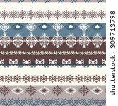 ethnic boho seamless pattern.... | Shutterstock .eps vector #309713798