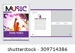 template music event magazine.... | Shutterstock .eps vector #309714386