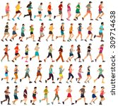 vector runners | Shutterstock .eps vector #309714638