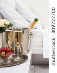 Champagne In Bed In A Hotel...