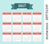 Calendar 2017. Week Starts Fro...