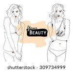vector fashion illustration of...