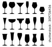 set of glasses  vector...   Shutterstock .eps vector #309736436