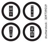 remote control vector icon set | Shutterstock .eps vector #309739019