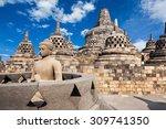 Buddha Statue In Borobudur...