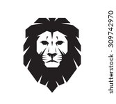 lion head   vector logo... | Shutterstock .eps vector #309742970