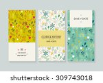 vector set card templates. use... | Shutterstock .eps vector #309743018